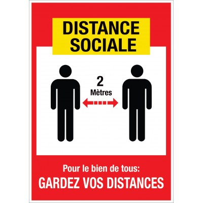 Sign - Distance sociale - Pack of 2
