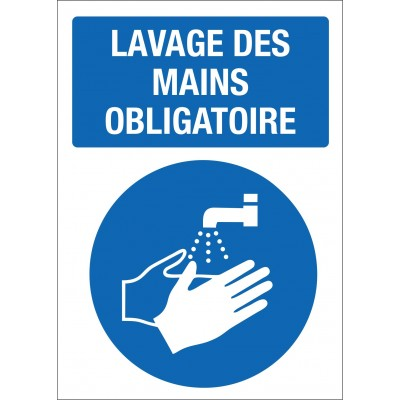 Sign - Lavage des mains obligatoire - Pack of 2