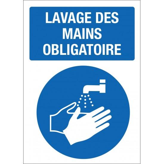 Affiche de prévention - Lavage des mains obligatoire - Paquet de 4