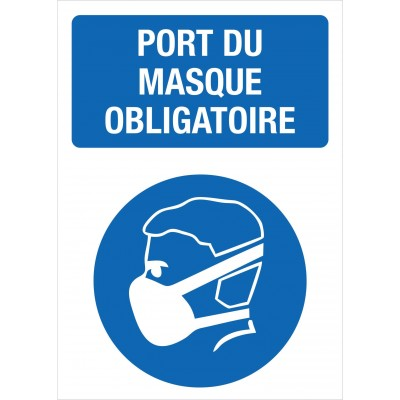 Sign - Port du masque obligatoire - Pack of 2