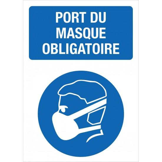 Affiche de prévention - Port du masque obligatoire - Paquet de 4