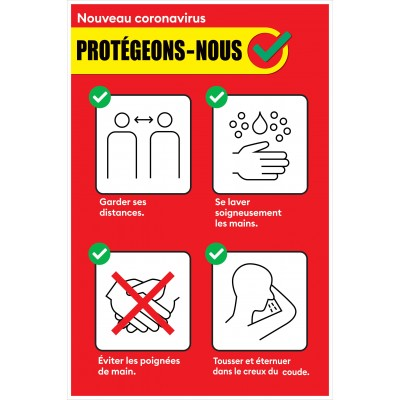 Sign - Protégeons-nous - Pack of 2