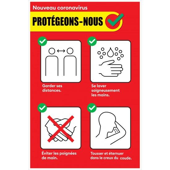 Affiche de prévention - Protégeons-nous - Paquet de 2