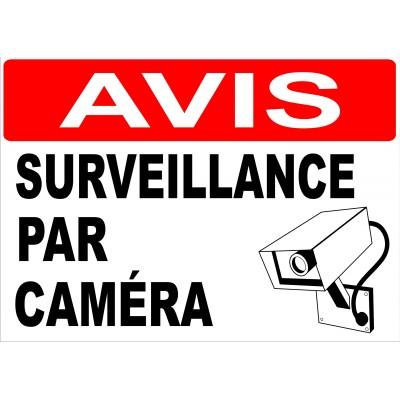 Affiche - Avis surveillance par caméra