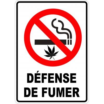 Affiche - Défense de fumer - Cigarette-Cannabis