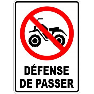Affiche - Défense de passer VTT