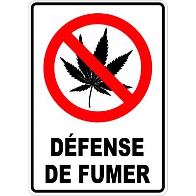 Affiche - Défense de fumer - Cannabis