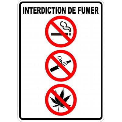 Affiche - Défense de fumer - Cigarette-Vapoteuse-Cannabis