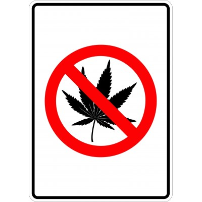 Affiche - Défense de fumer - Cannabis - Sans texte