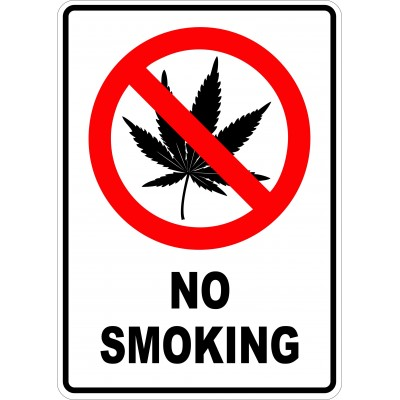 Affiche - No smoking cannabis