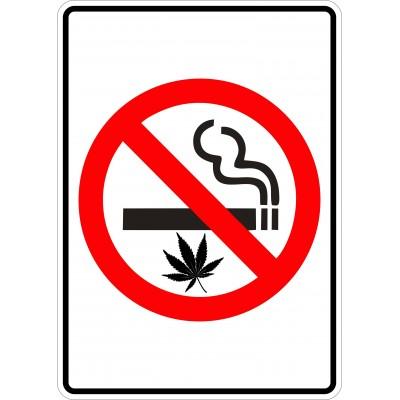 Affiche - Défense de fumer - Cigarette-Cannabis - Sans texte