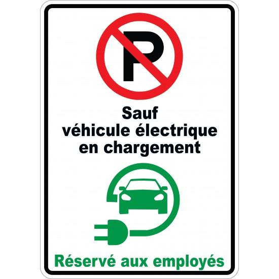 Affiche - Stationnement interdit sauf véhicule électrique