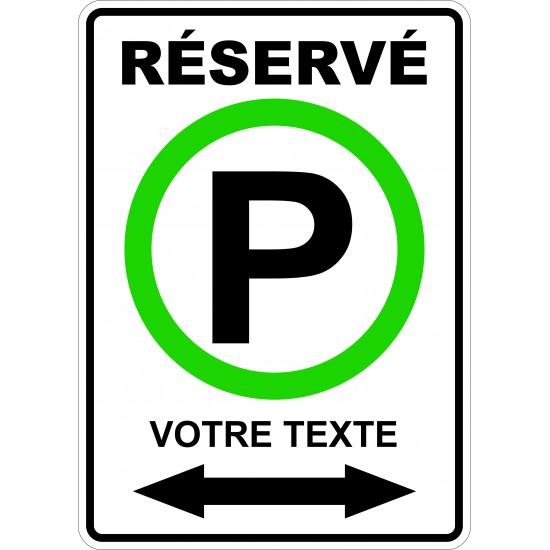 Affiche - Stationnement réservé personnalisé