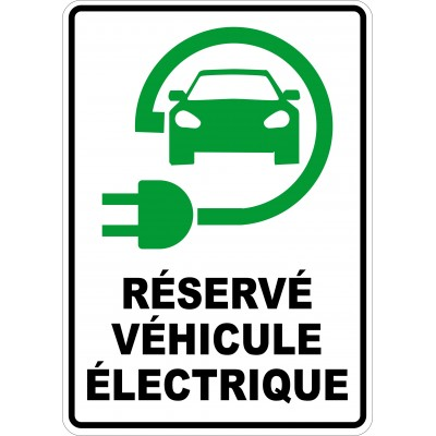 Affiche - Stationnement véhicule électrique