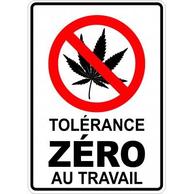 Affiche - Tolérance zéro cannabis