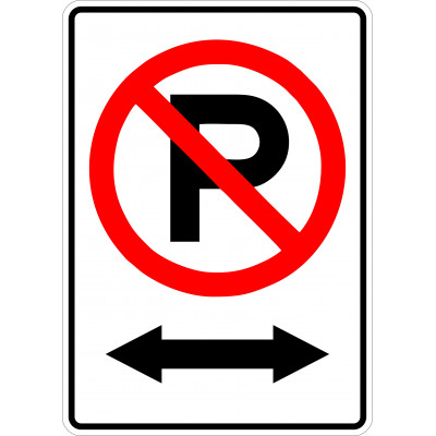 Sign - No parking - Distance