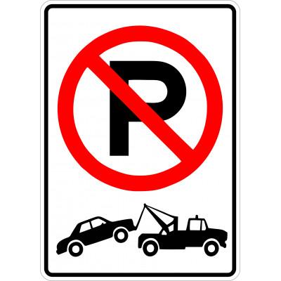 Affiche - Stationnement interdit - Remorquage