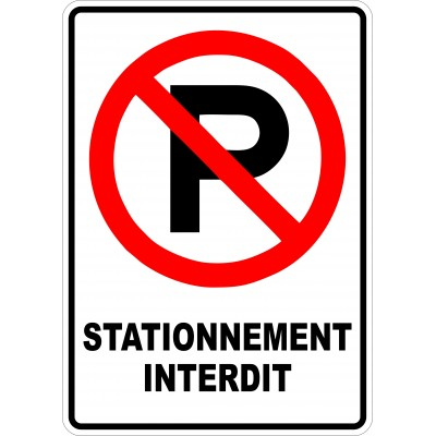 Sign - Défense de stationner