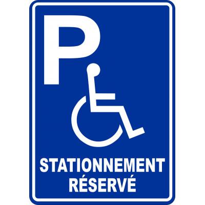 Affiche - Stationnement réservé bleu