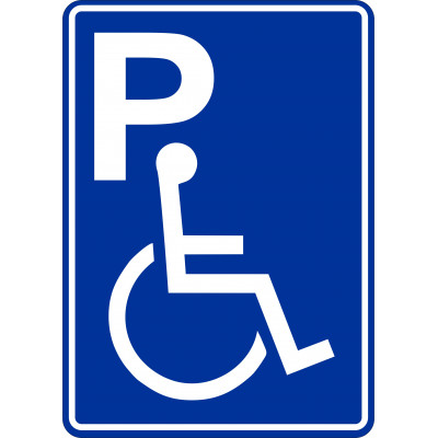 Affiche - Stationnement réservé bleu icône