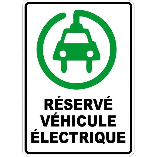 Affiche - Stationnement véhicule électrique icône