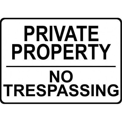 Affiche - Private Property - No trespassing