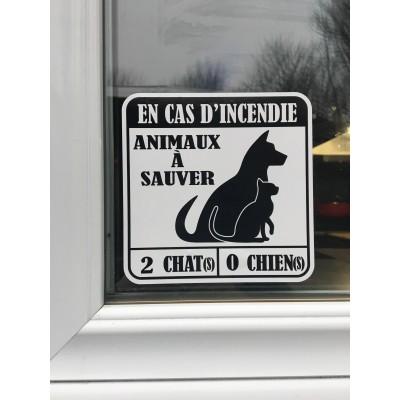 Autocollant Sauver nos animaux en cas d'incendie