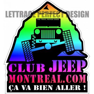 Autocollant - Club Jeep Montréal - Ça va bien aller - Lot de 2