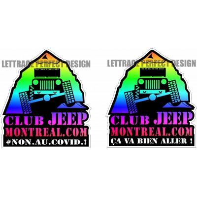 Autocollants - Club Jeep Montréal - Duo - Paquet de 4 autocollants
