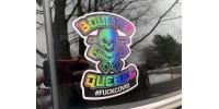 Autocollant tête de mort - Bouette Québec - #fuckcovid - Lot de 2