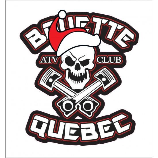 Autocollant Bouette Québec Noël