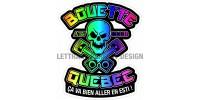 Autocollants tête de mort - Bouette Québec - Duo - Paquet de 4 autocollants