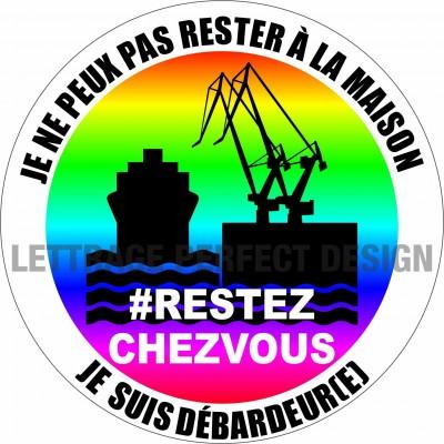 Autocollant #RESTEZCHEZVOUS - Débardeur(e) - Lot de 2