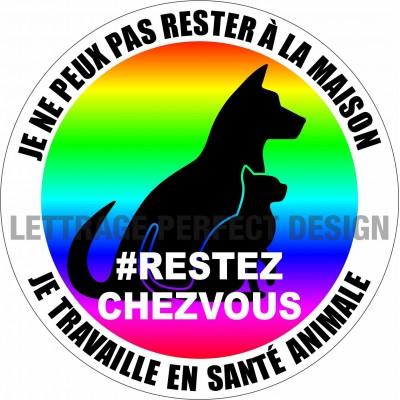 Sticker #RESTEZCHEZVOUS - Animal health - Lot of 2