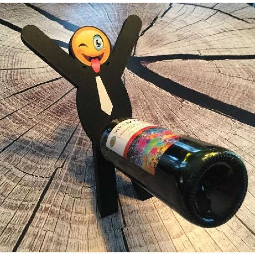 support bouteille vin dr le. Black Bedroom Furniture Sets. Home Design Ideas