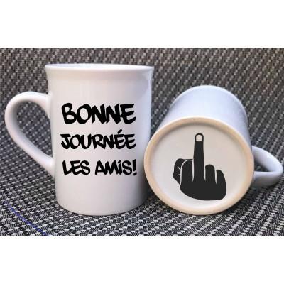 """Decal for mug """"Bonne journée les amis"""""""
