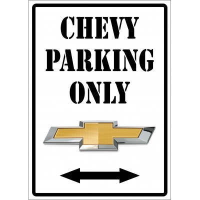 Affiche - Chevy parking only