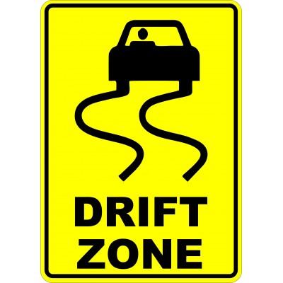 Sign - Drift zone