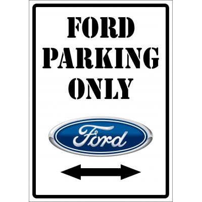 Affiche - Ford parking only