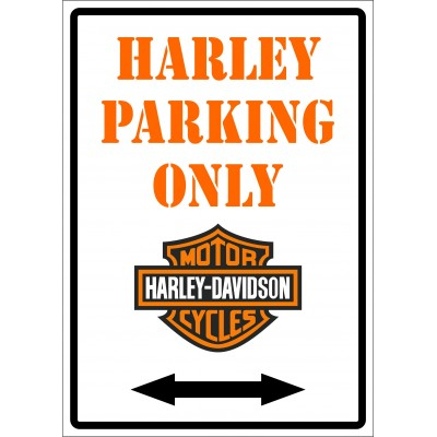 Affiche - Harley parking only
