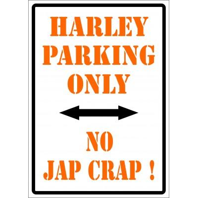 Affiche - Harley parking only - No jap crap