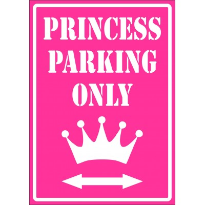 Affiche - Princess parking only