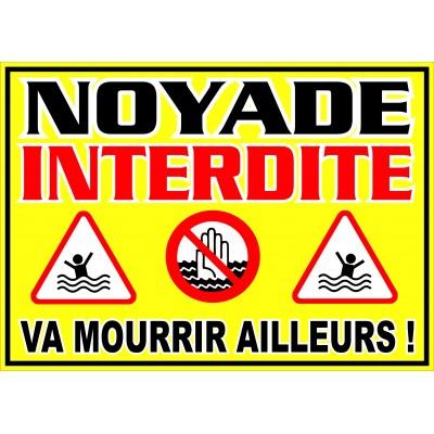 Affiche - Noyade interdite