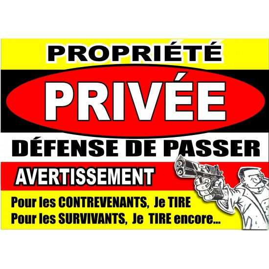 Affiche - Propriété privée