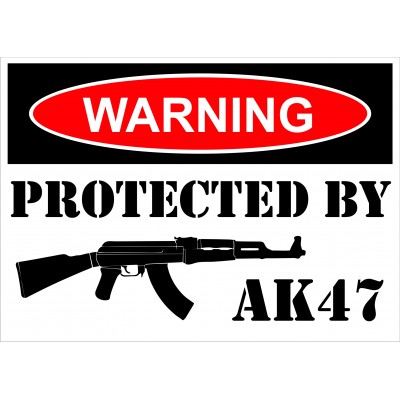 Affiche - Warning AK47