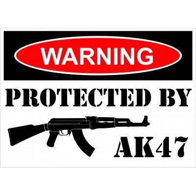 Sign - Warning AK47