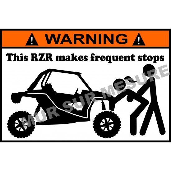 Sticker - This RZR makes frequent stops