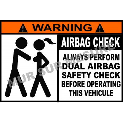 Sticker - Airbag check