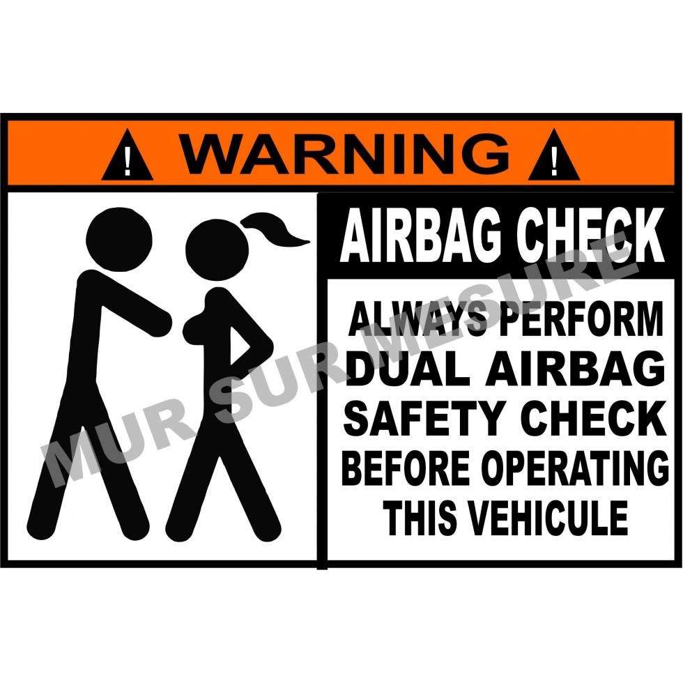 sticker airbag check. Black Bedroom Furniture Sets. Home Design Ideas