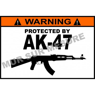 Sticker - Protected by AK-47